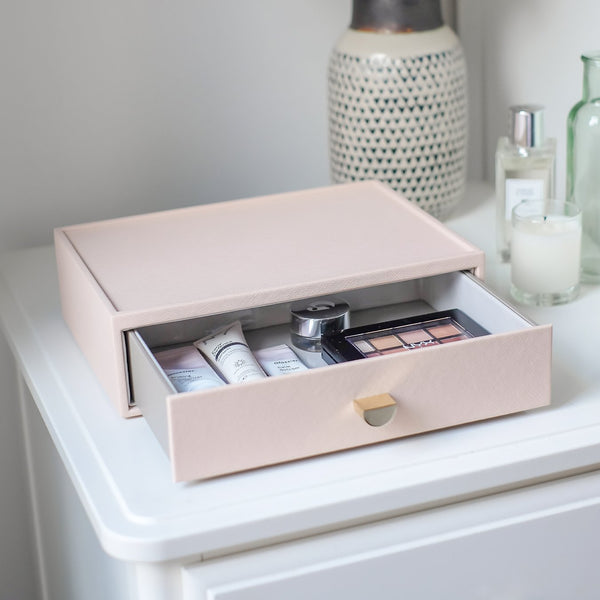 Makeup Organizer Drawer - Blush Pink