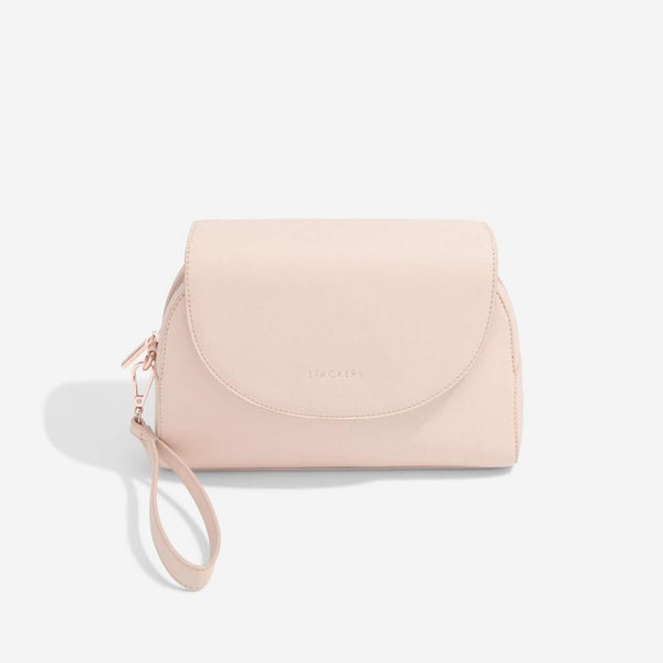 Wrap Around Make-up Bag - Blush Pink