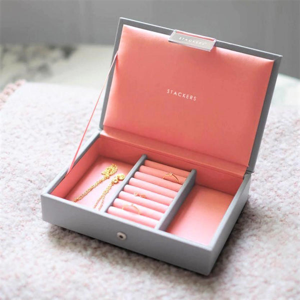Jewellery Box with Lid Small - Grey Coral