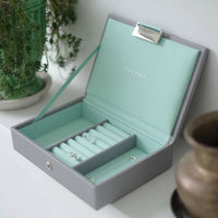 Jewellery Box with Lid Small - Grey Mint