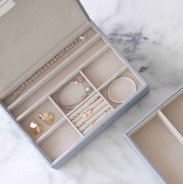 Jewellery Box with Lid Medium - Dusky Blue