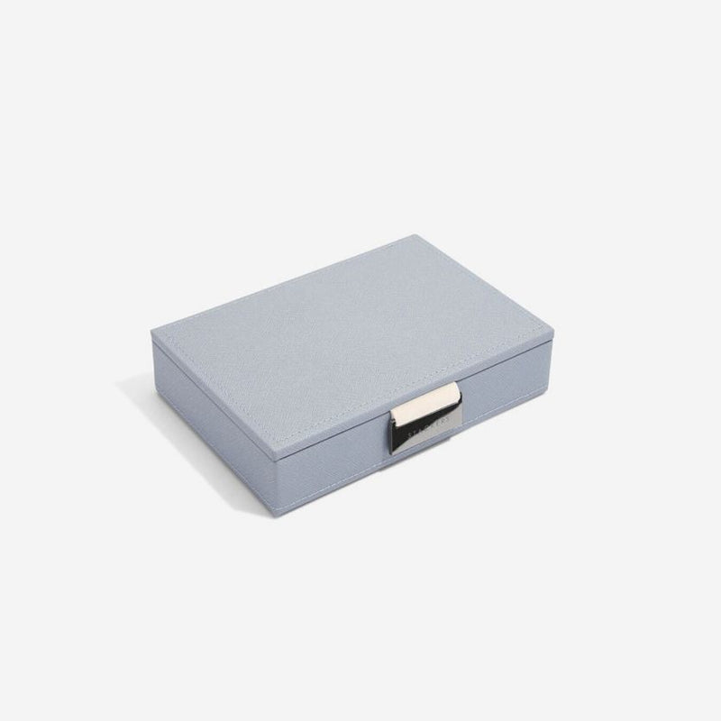 Jewellery Box with Lid Small - Dusky Blue