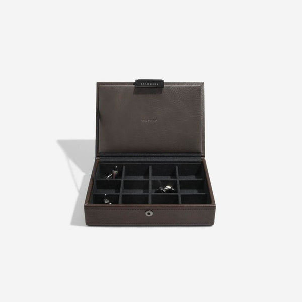 Cufflinks Storage Box - Brown