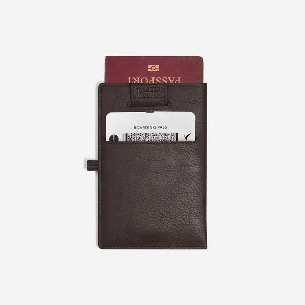 Travel Passport Sleeve - Brown