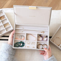 Jewellery Box with Lid Medium - Taupe
