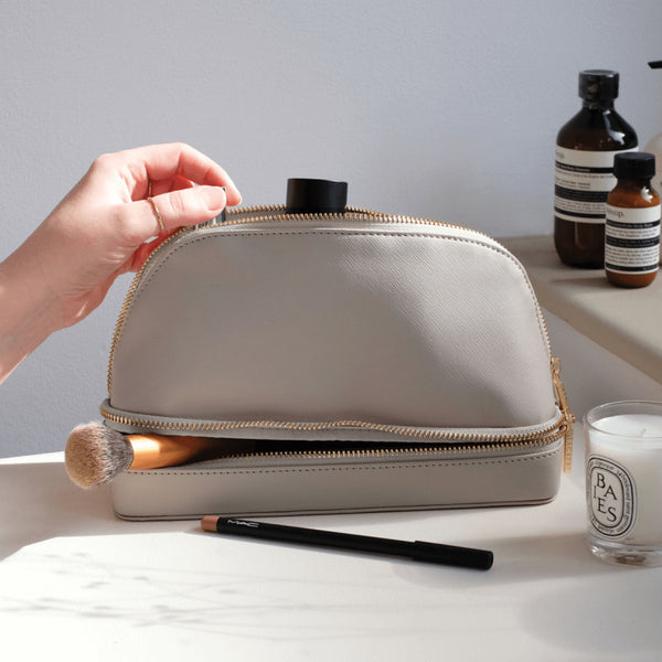 Travel Cosmetic Bag - Taupe