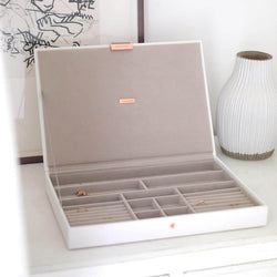 Jewellery Box with Lid Large - White