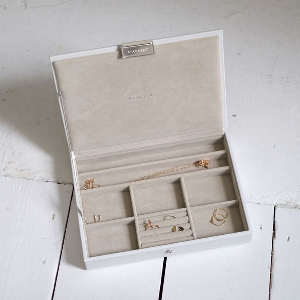Jewellery Box with Lid Medium - White