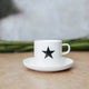 Porcelain Espresso Cup and Saucer Set - Star