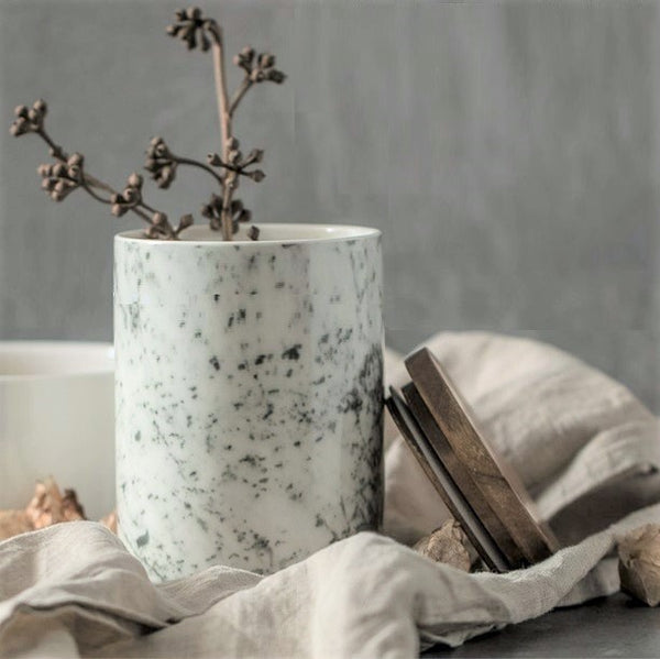 Storage Jar with Lid - Marble