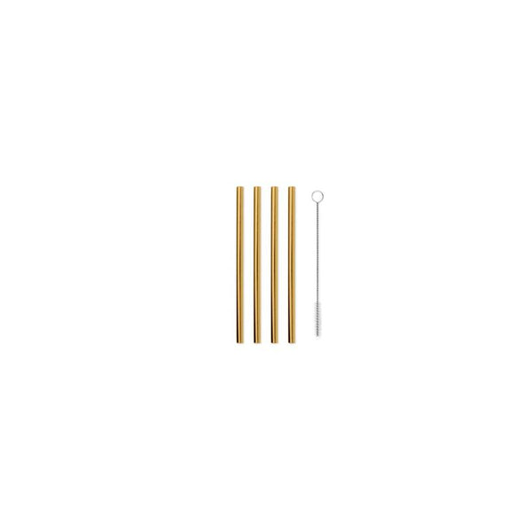 Porter Metallic Short Straws - Gold