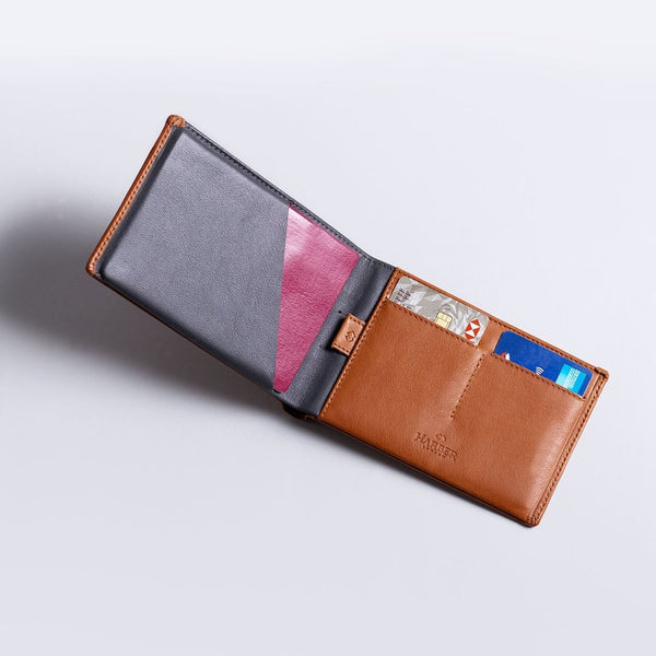 Leather Travel Wallet - Tan
