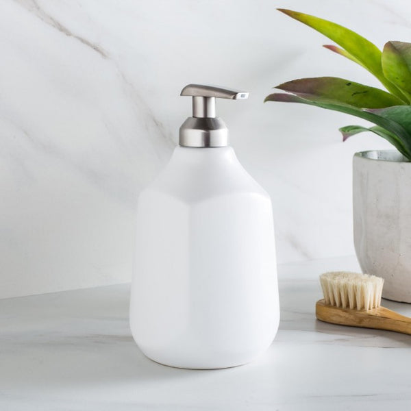 Corsa Ceramic Soap Dispenser - White