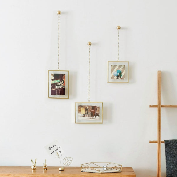 Fotochain Frames, Set of 3 - Brass