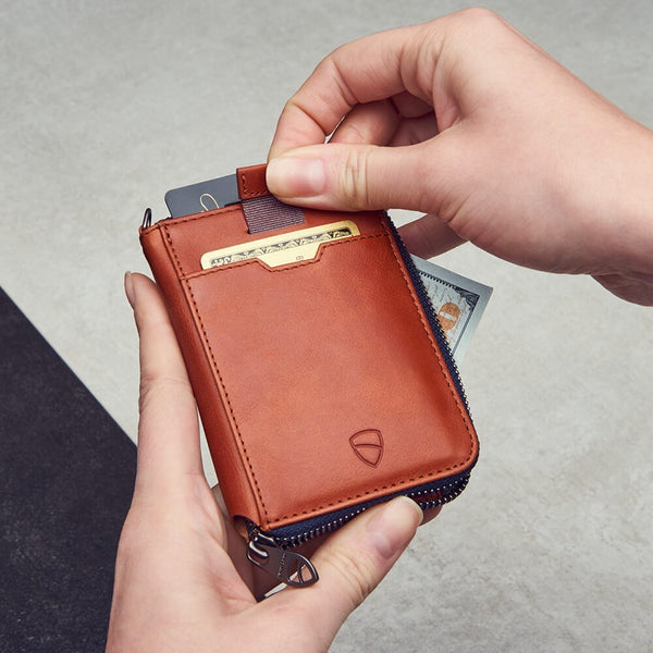 Notting Hill Zip Wallet - Cognac RFID