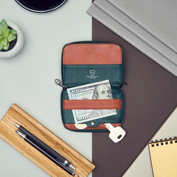 Notting Hill Zip Wallet - Green RFID