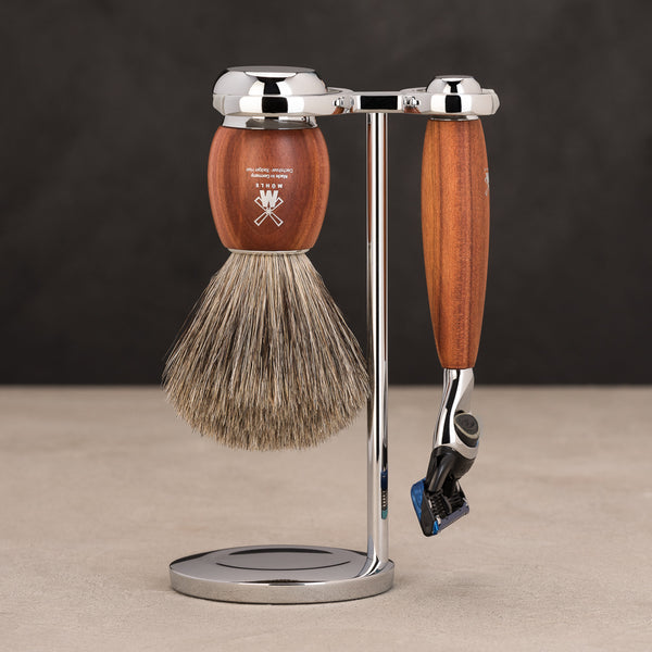 Vivo Fusion Shave Set - Plum Wood