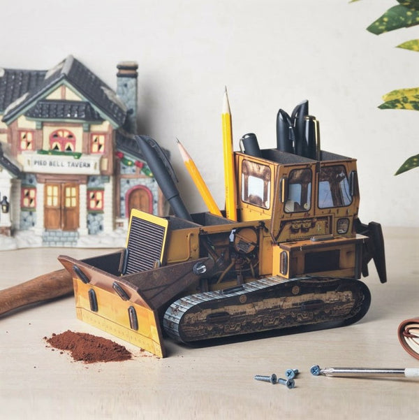 Pen Holder - Bulldozer