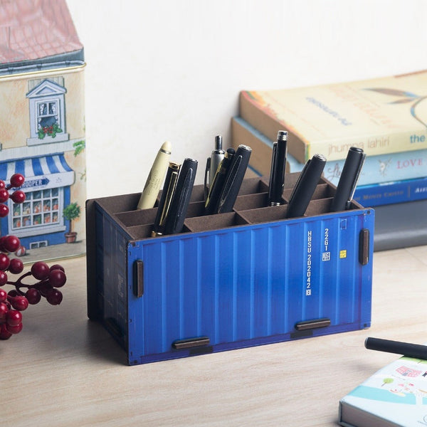 Pen Holder - Cabin Blue