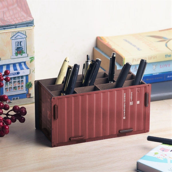 Pen Holder - Cabin Red