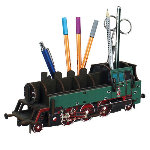 Pen Holder - Green Train
