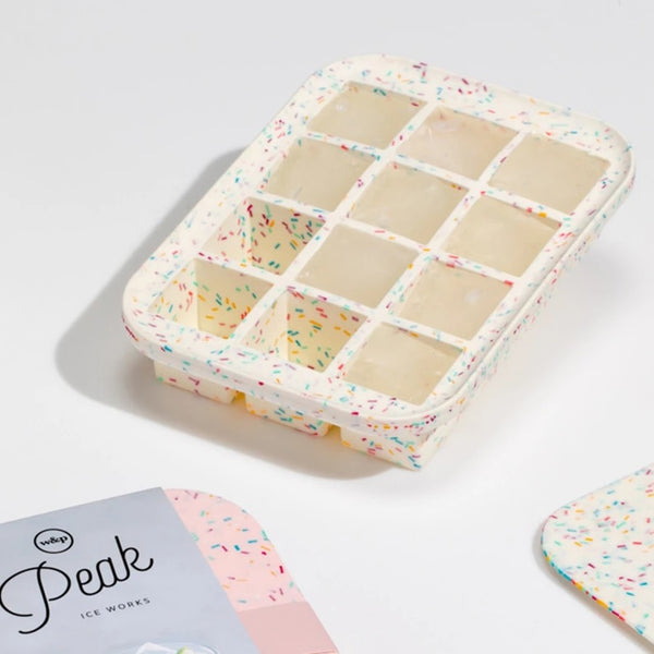 Peak Everyday Ice Tray - Speckled White
