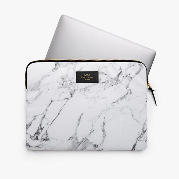 White Marble Laptop Sleeve 13inch