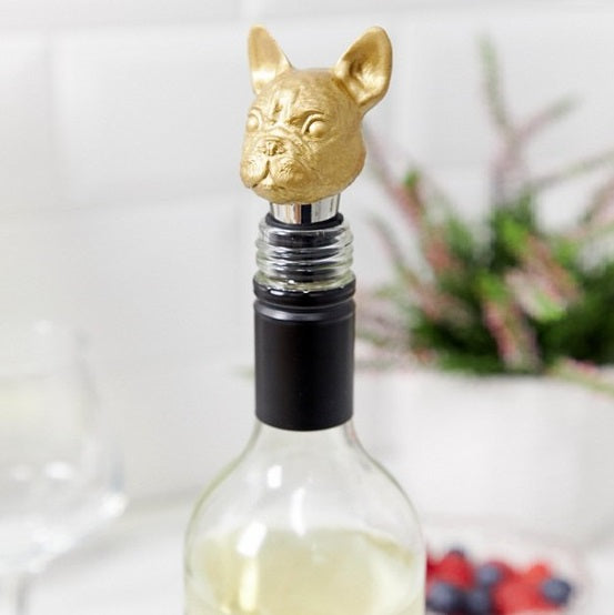 Bottle Stopper, Canine - Gold