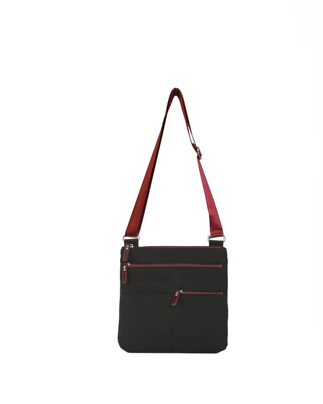 Pete - New Mini Multi-Pocket | Black & Red