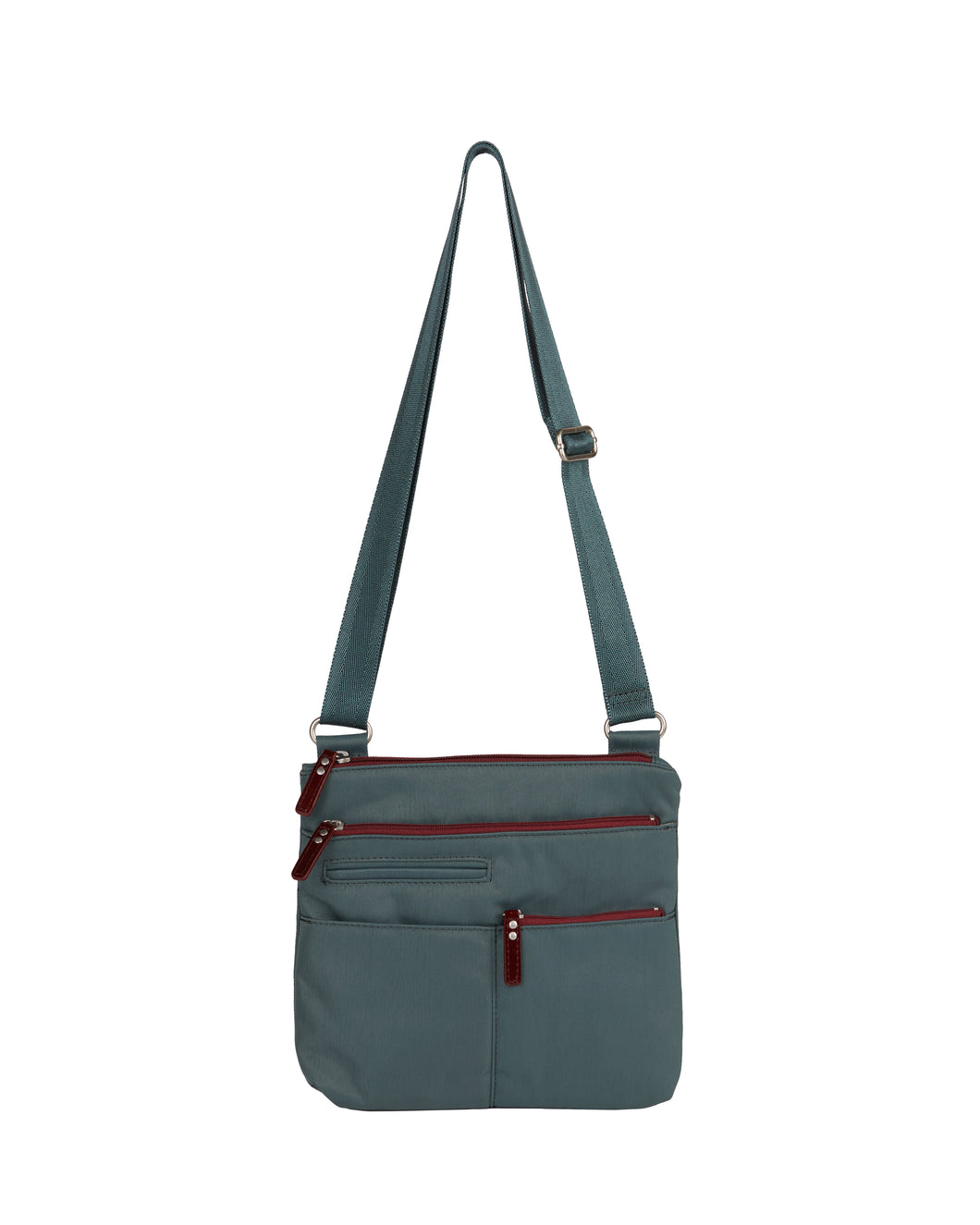 Highway Pete - Mini Multi - Pocket Bag / Atlantic & Dk. Red
