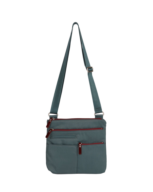 Pete - Mini Multi - Pocket Bag / Atlantic & Dk. Red