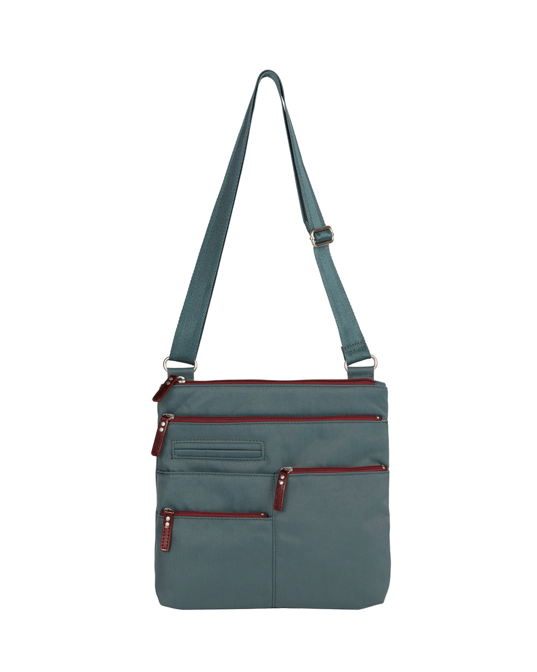 Highway Nico - Small Multi - Pocket Bag / Atlantic & Dk. Red