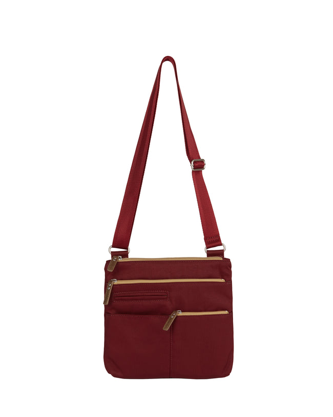 Pete - Mini Multi - Pocket Bag / Wine & Ochre