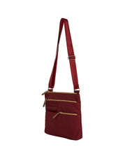 Load image into Gallery viewer, Highway Pete - Mini Multi - Pocket Bag / Wine & Ochre