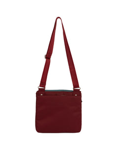 Highway Pete - Mini Multi - Pocket Bag / Wine & Azure