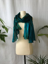 Load image into Gallery viewer, Handmade Silk Scarf - Turquoise