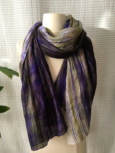 Load image into Gallery viewer, Handmade Silk Scarf - Deep Violet