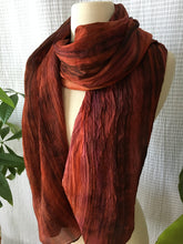 Load image into Gallery viewer, Handmade Silk Scarf - Rust