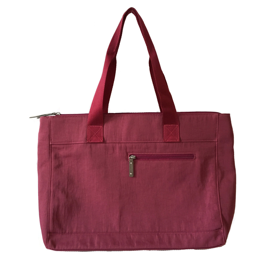 Devin - Large Tote w/ Layered Closure | Cyclamen