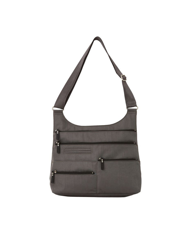 Teela - Medium Multi-Pocket Bag | Stone & Black
