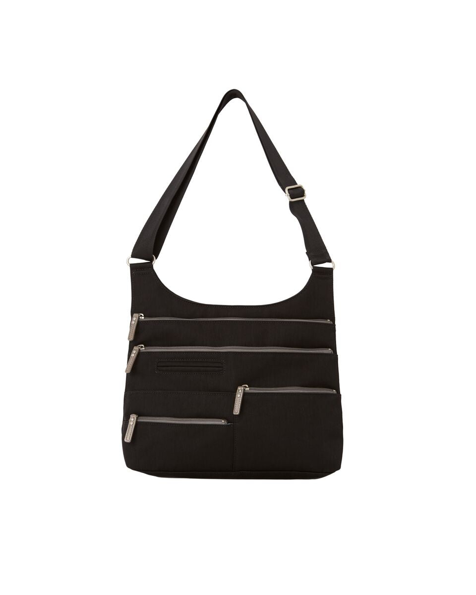 Highway Teela - Medium Multi-Pocket Bag | Black & Champagne