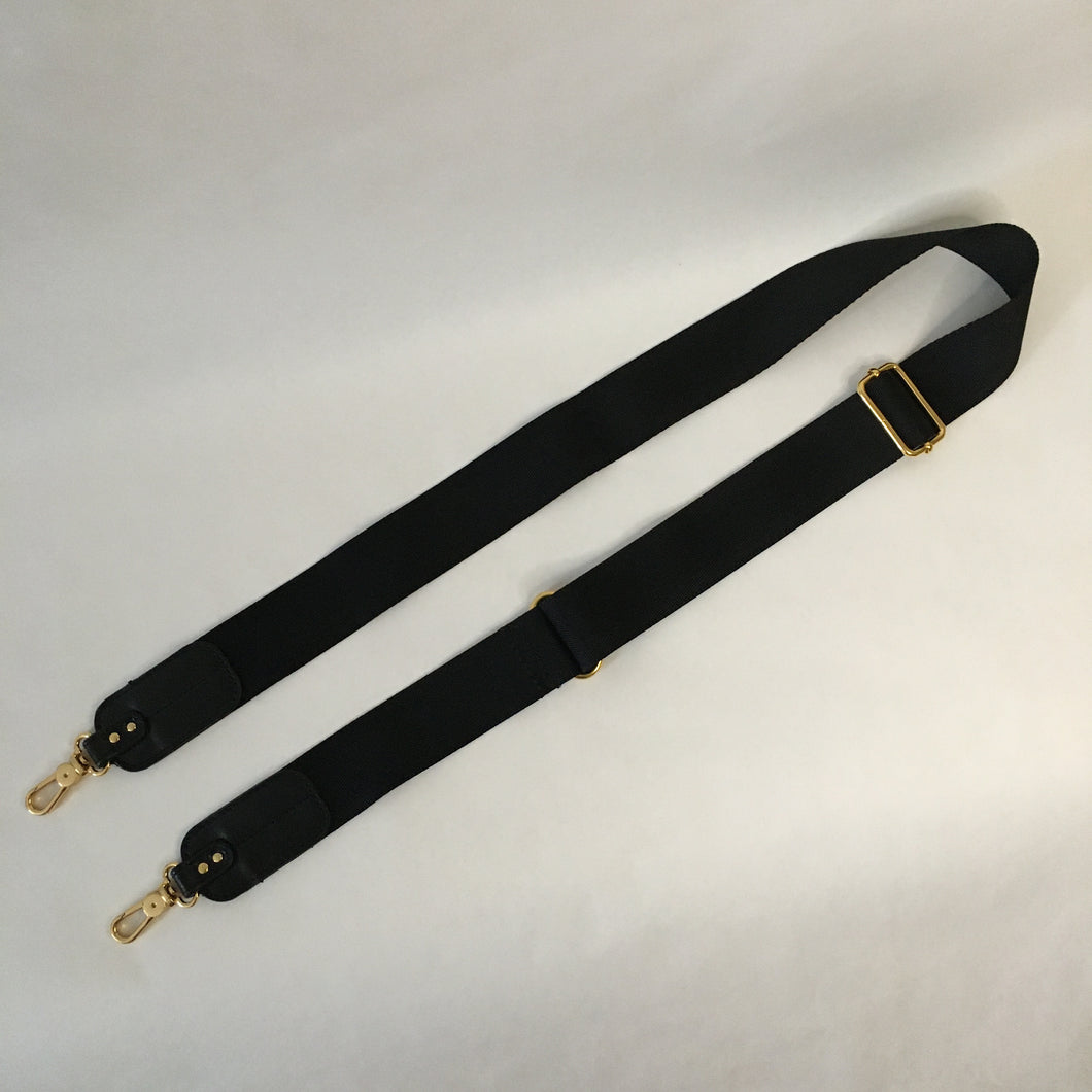 Nylon x Leather Strap | Black x Gold