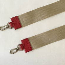 Load image into Gallery viewer, Nylon x Leather Strap | Ivory x Red