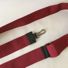 Load image into Gallery viewer, Nylon x Leather Strap | Red x Grey