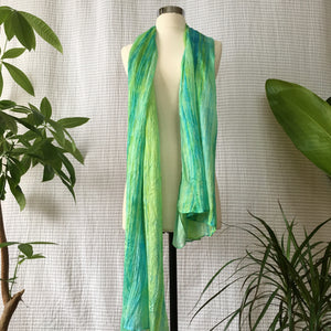 Handmade Silk Scarf - Bright Lime