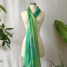 Load image into Gallery viewer, Handmade Silk Scarf - Bright Lime