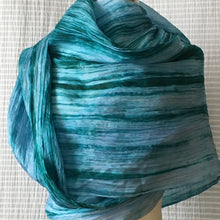 Load image into Gallery viewer, Handmade Silk Scarf - Lapis Lazuli