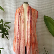 Load image into Gallery viewer, Handmade Silk Scarf - Coral