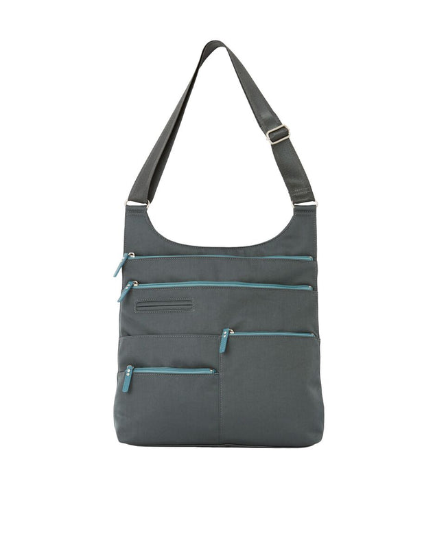 Lucy- Large Multi-Pocket | Midnight Gray & Azure