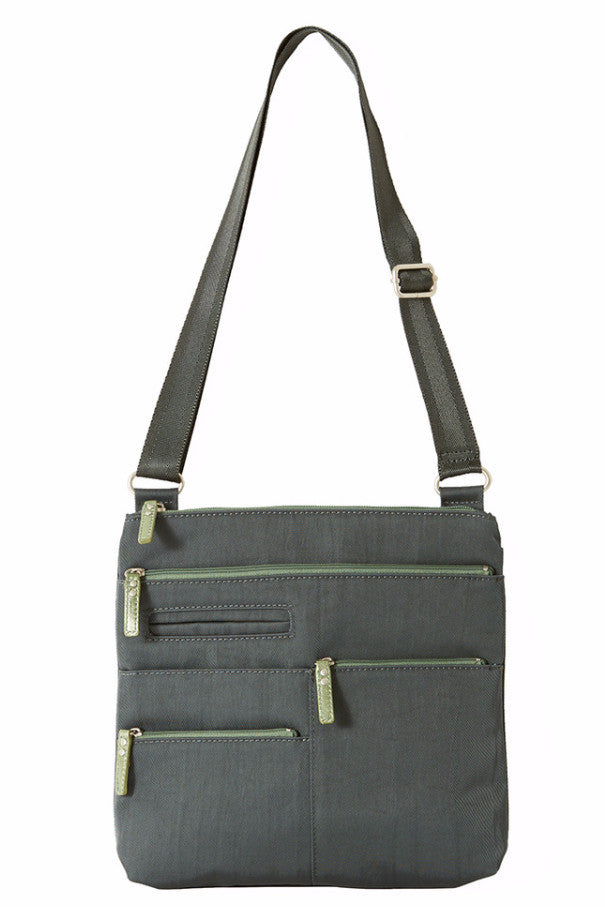 Nico - Small Multi-Pocket | Midnight Gray & Green